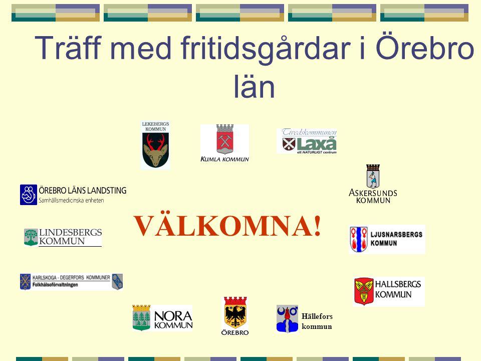 Träff med fritidsgårdar i Örebro län Hällefors kommun VÄLKOMNA!