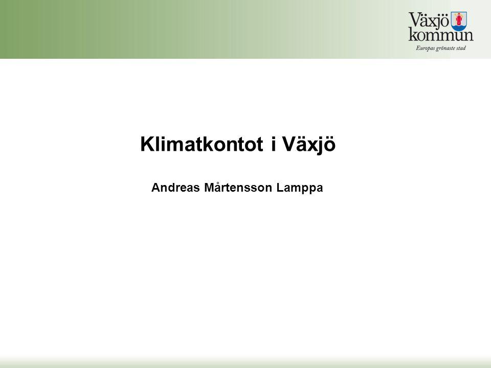 Klimatkontot i Växjö Andreas Mårtensson Lamppa