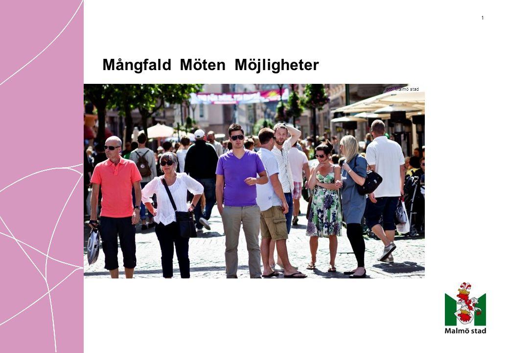 2 Välkommen till Malmö – en mångfald av möten och möjligheter •Malmö är regionens tillväxtcentrum •300 000 invånare •Ökande befolkning för tjugosjätte året i rad •30% av stadens invånare är födda utomlands •Malmöbor från 175 olika länder •Ung befolkning: 48% är under 35 år Foto:X-RAY FOTO/Leif Johansson