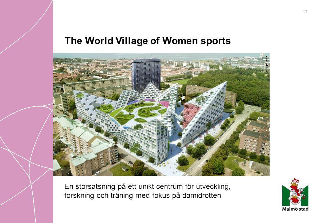 33 The World Village of Women sports En storsatsning på ett unikt centrum för utveckling, forskning och träning med fokus på damidrotten Förslag på ar