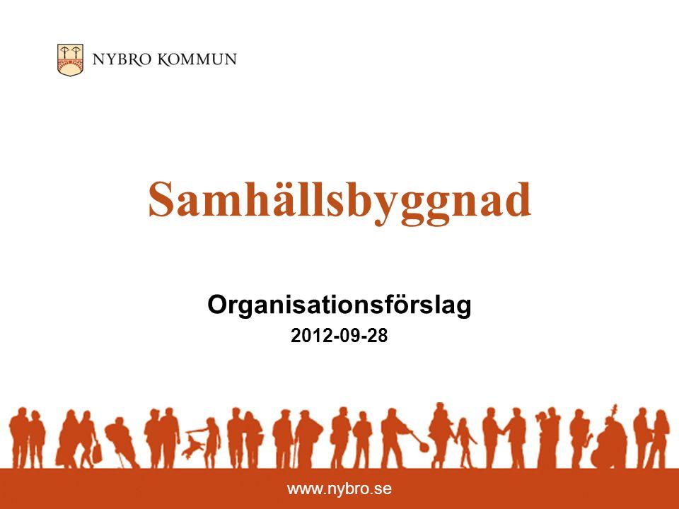 www.nybro.se Samhällsbyggnad Organisationsförslag 2012-09-28
