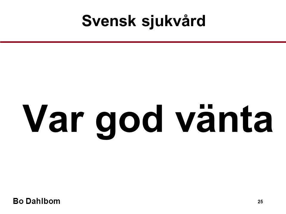 Bo Dahlbom 25  Var god vänta Svensk sjukvård