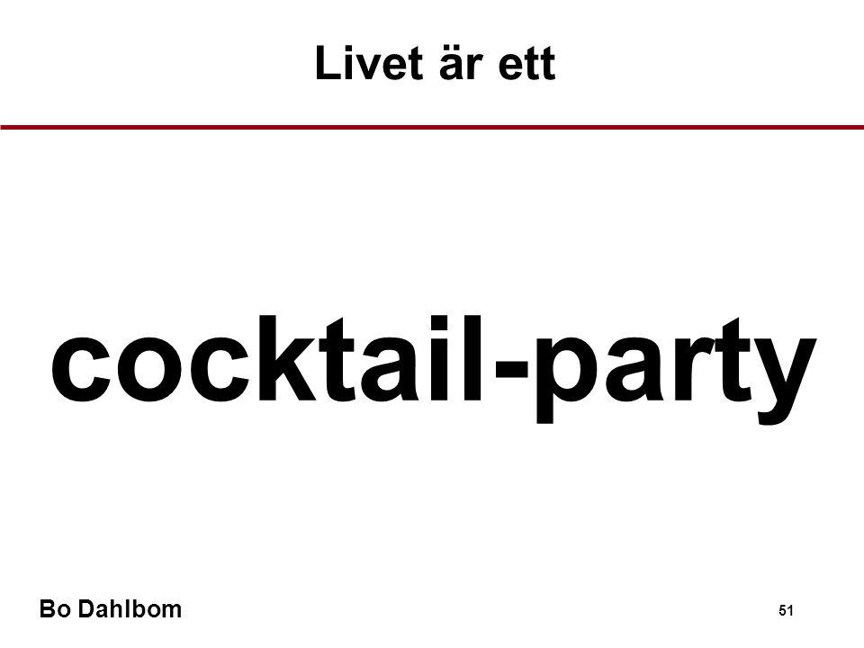 Bo Dahlbom 51 cocktail-party Livet är ett