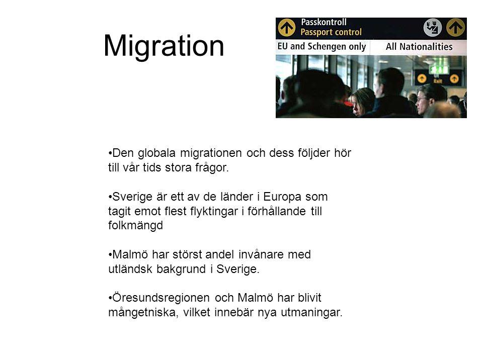 •Den globala migrationen och dess följder hör till vår tids stora frågor.