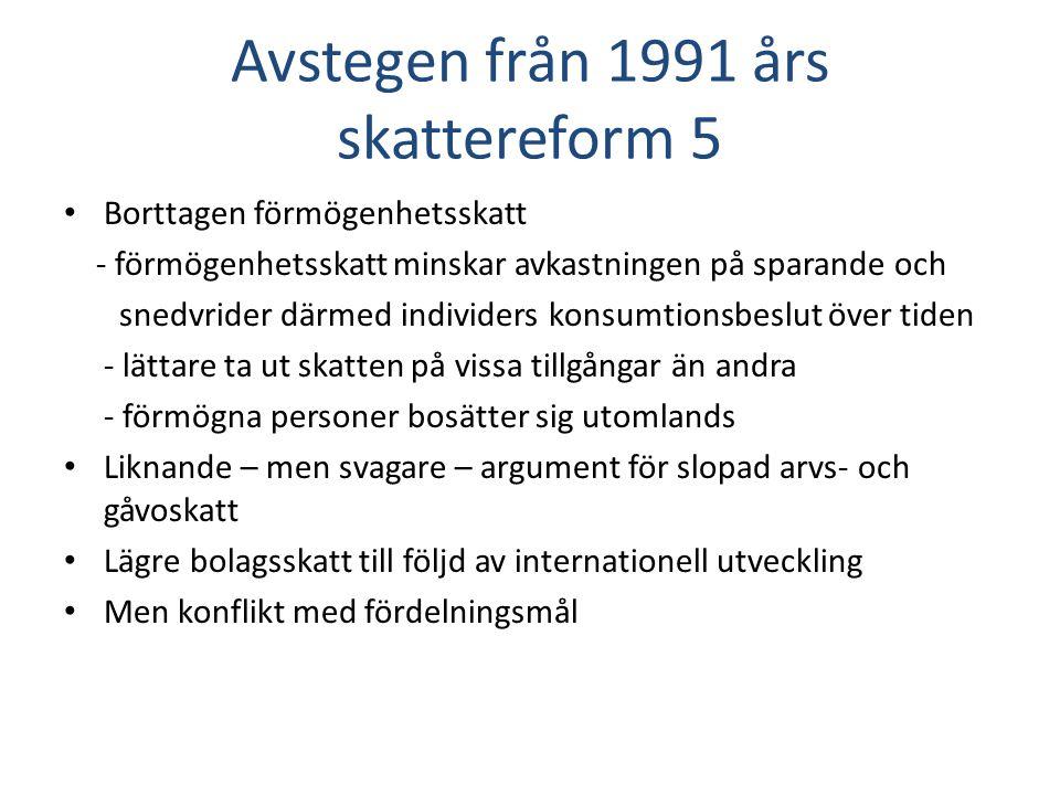 Värnskatten: förändringar i förutsättningarna sedan 1991 års skattereform 1. Traditionella effektivitetsargument 2.Internationell konkurrens om högutbildade 3.Statsfinansiella aspekter 4.Fördelningsaspekter
