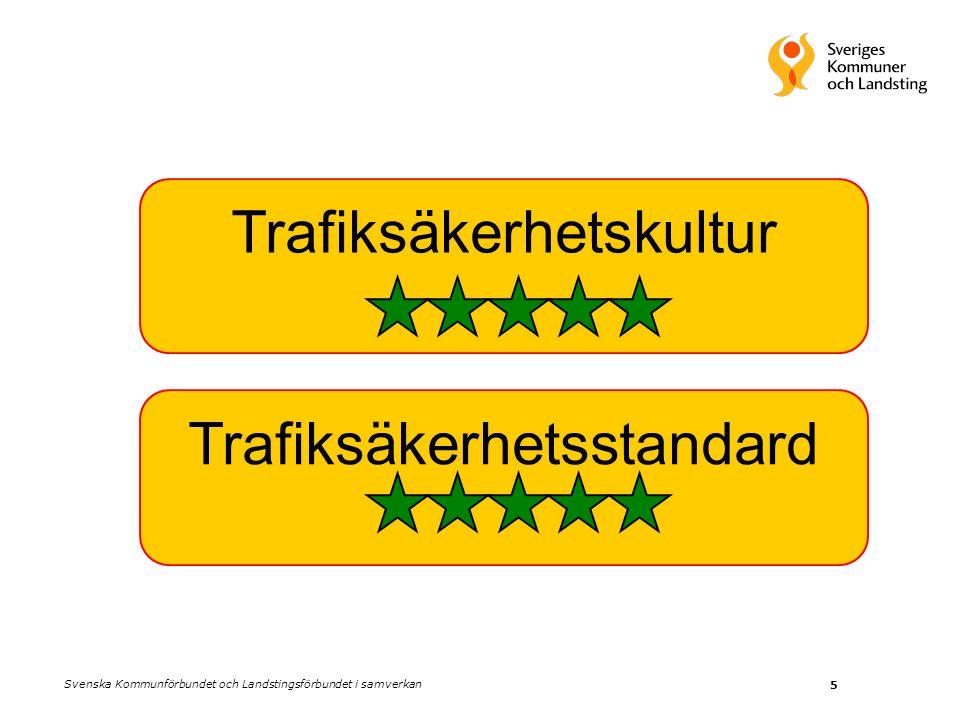 5 Trafiksäkerhetskultur Trafiksäkerhetsstandard Svenska Kommunförbundet och Landstingsförbundet i samverkan