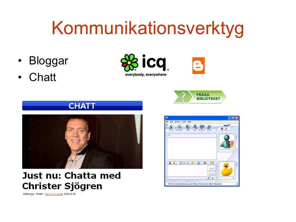 Bloggar du? Andra gör det! 23 saker Moment 1 Kommunikationsverktyg 8, 13 februari 2008