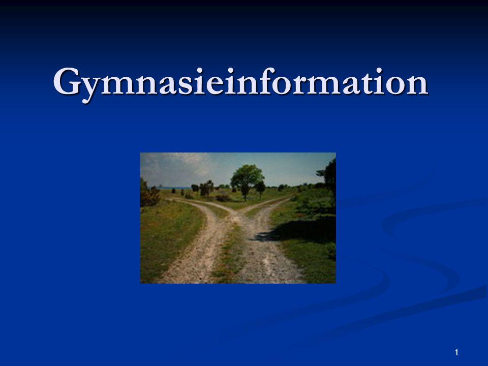 1 Gymnasieinformation