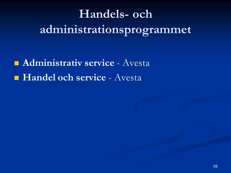 19 Handels- och administrationsprogrammet   Administrativ service - Avesta   Handel och service - Avesta