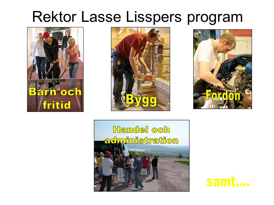 Rektor Lasse Lisspers program