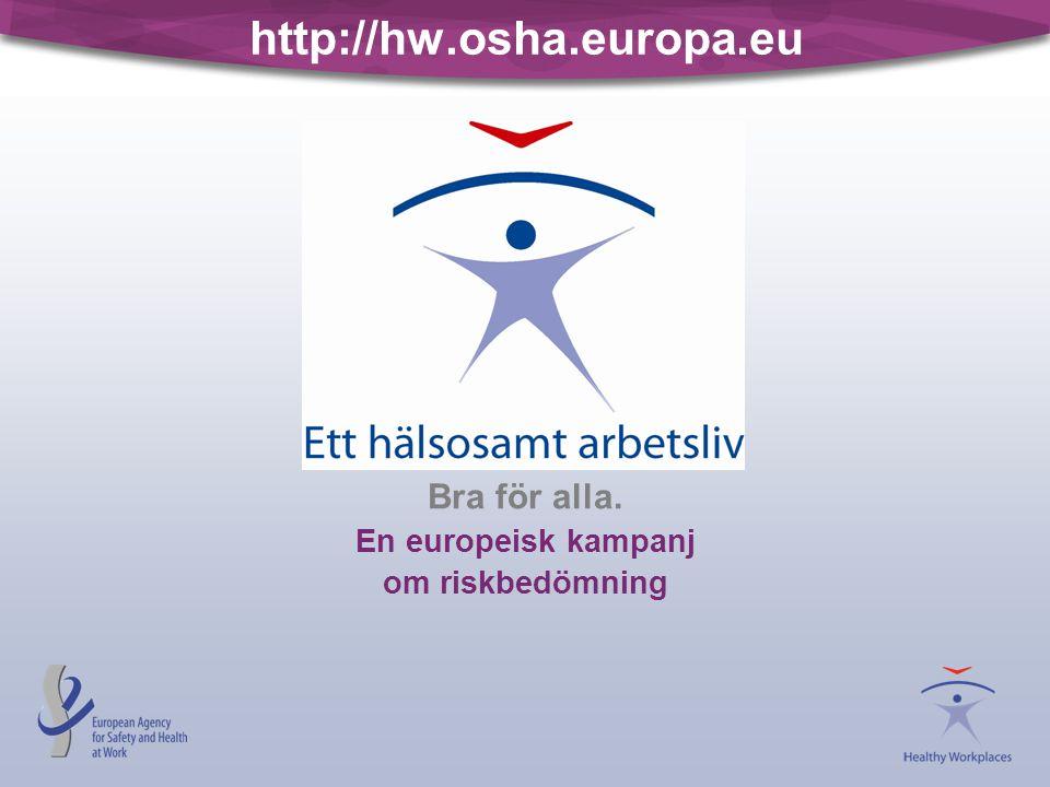 Bra för alla. En europeisk kampanj om riskbedömning