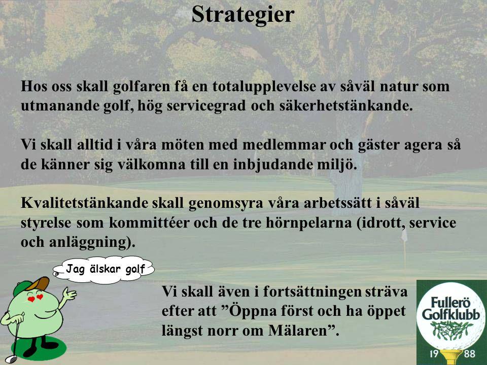 Jag älskar golf Juniorverksamhetens inriktning Ge så många barn och ungdomar som möjligt i Västerås tillfälle att få ta del av golfsportens utvecklande och fostrande inverkan.