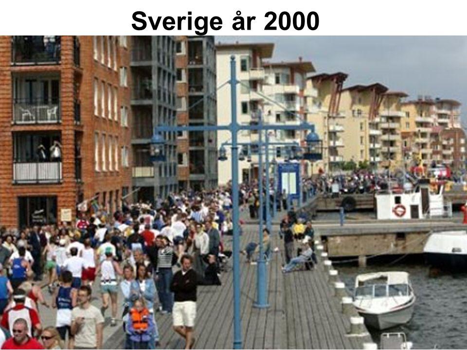 Det moderna miraklet 1800200017001600150014001300 5 000 1900 200 000 150 000 100 000 1200 50 000 Bnp per person i Sverige
