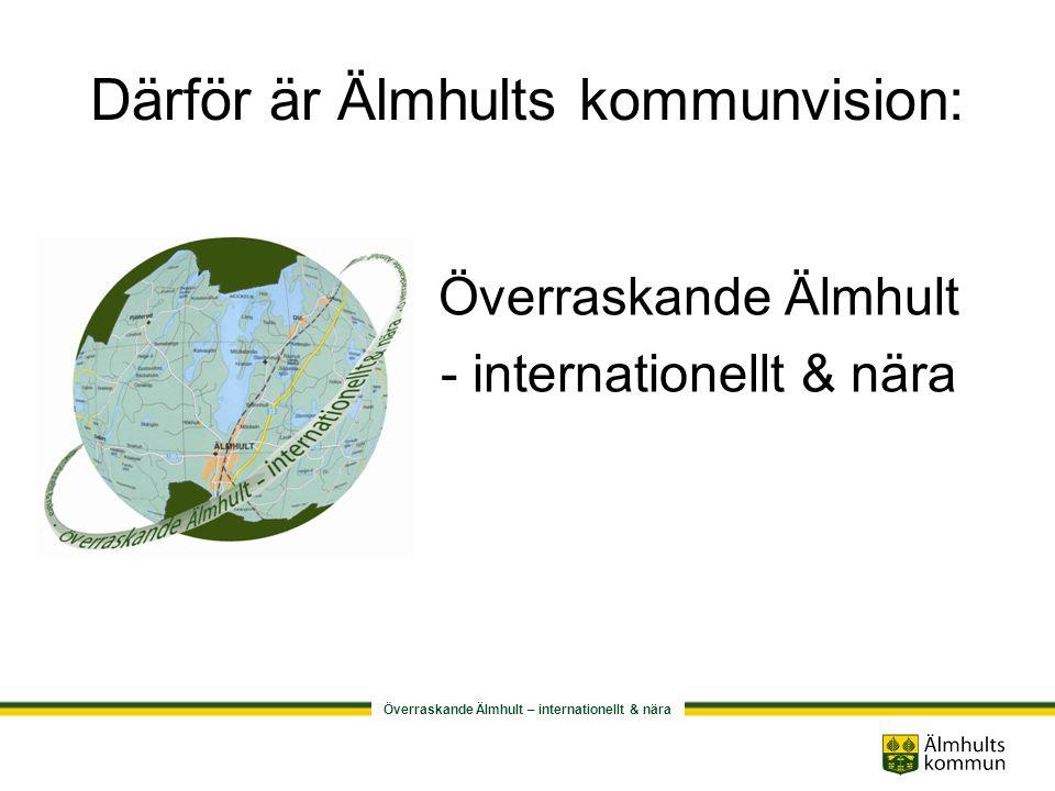 Överraskande Älmhult – internationellt & nära Därför är Älmhults kommunvision: Överraskande Älmhult - - internationellt & nära