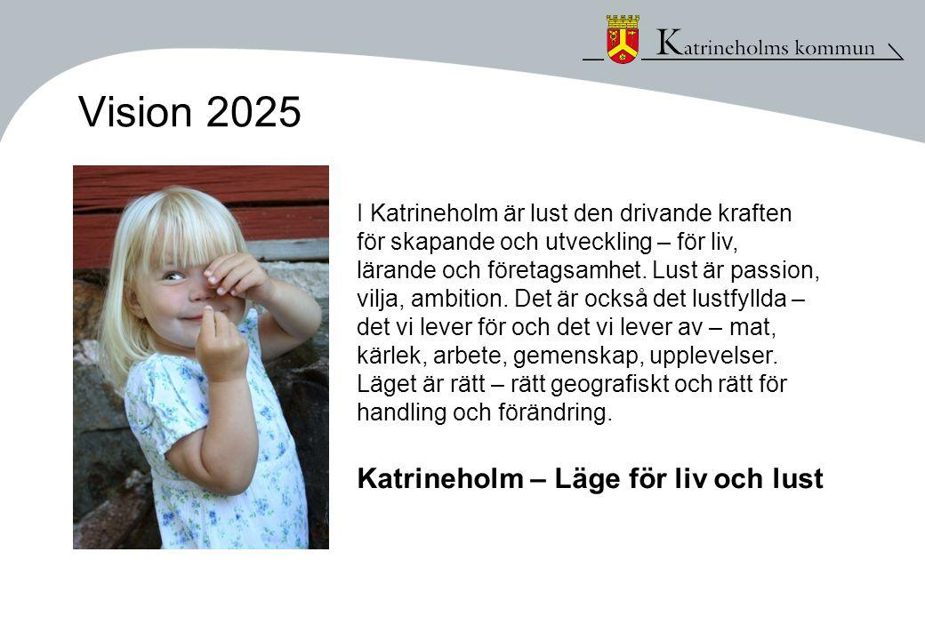 Vision 2025 I Katrineholm är lust den drivande kraften för skapande och utveckling – för liv, lärande och företagsamhet. Lust är passion, vilja, ambit