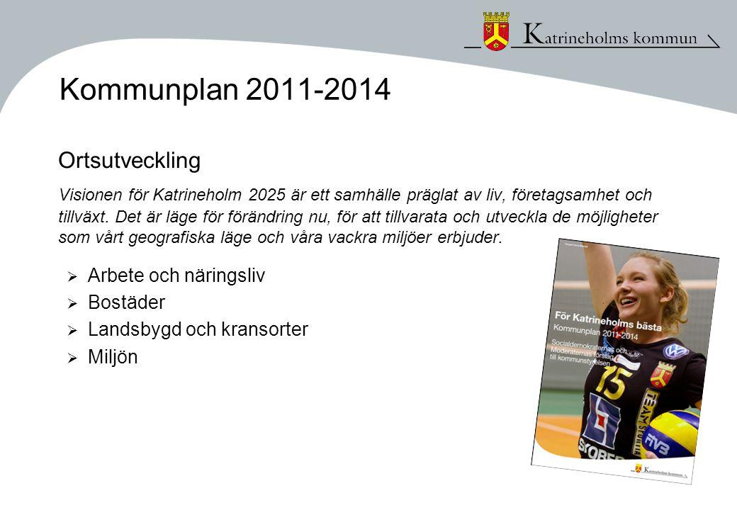 Kommunplan 2011-2014 Ortsutveckling Visionen för Katrineholm 2025 är ett samhälle präglat av liv, företagsamhet och tillväxt.