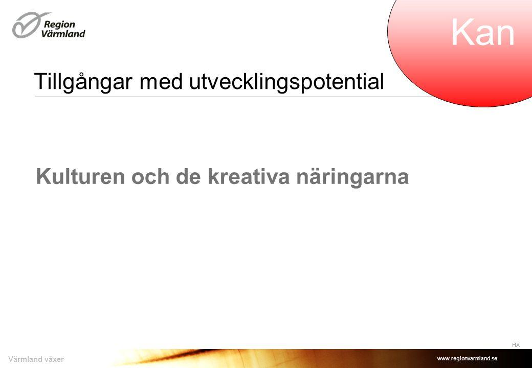 www.regionvarmland.se Värmland växer Strategier som: HA KanBör Vill •för oss i visionens riktning •tar vara på våra tillgångar •utgår från omvärldens spelregler