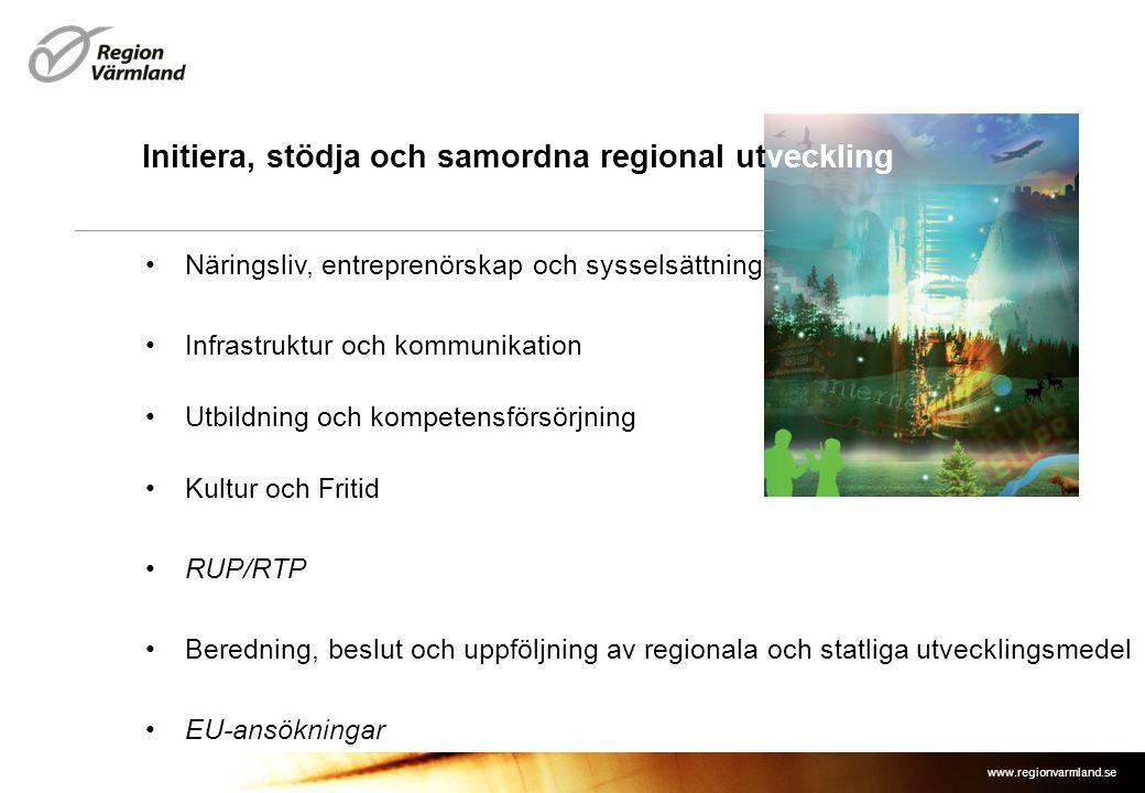www.regionvarmland.se •Näringsliv, entreprenörskap och sysselsättning •Infrastruktur och kommunikation •Utbildning och kompetensförsörjning •Kultur oc