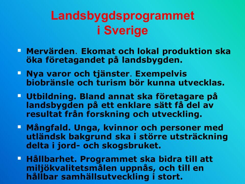 Landsbygdsprogrammet i Sverige  Mervärden.