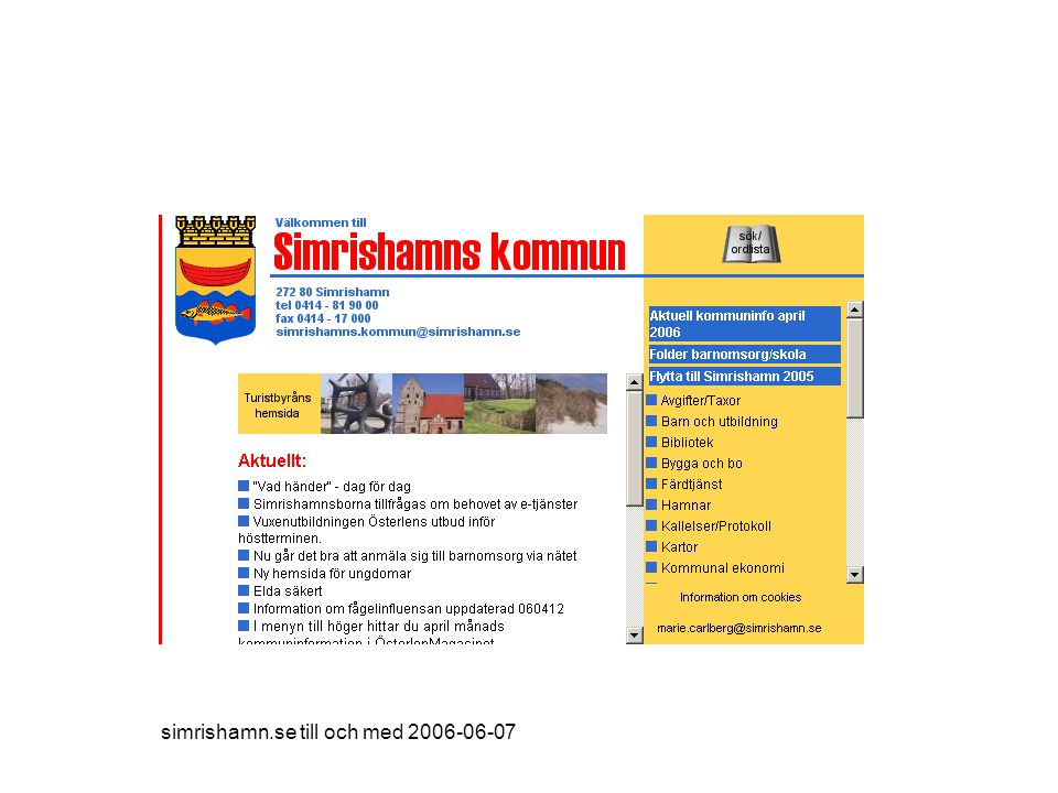 simrishamn.se till och med 2006-06-07