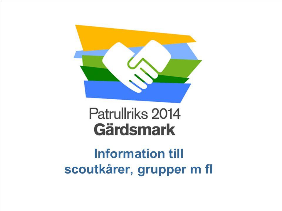 Patrullriks Gärdsmark 2014, presentation HT 2013 Patrullriks 2014 - LÄKO   Det kommer att hända i Gärdsmark… 2 • Vart tredje år händer det – Patrullriks!.