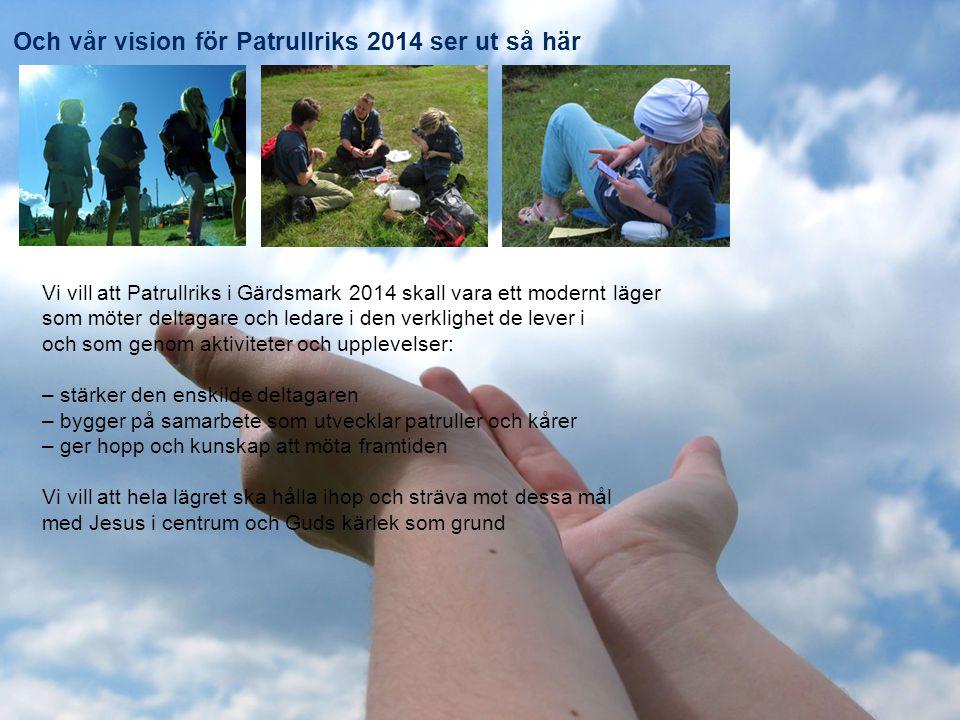 Patrullriks Gärdsmark 2014, presentation HT 2013 Patrullriks 2014 - LÄKO   DU KOMMER VÄL !.