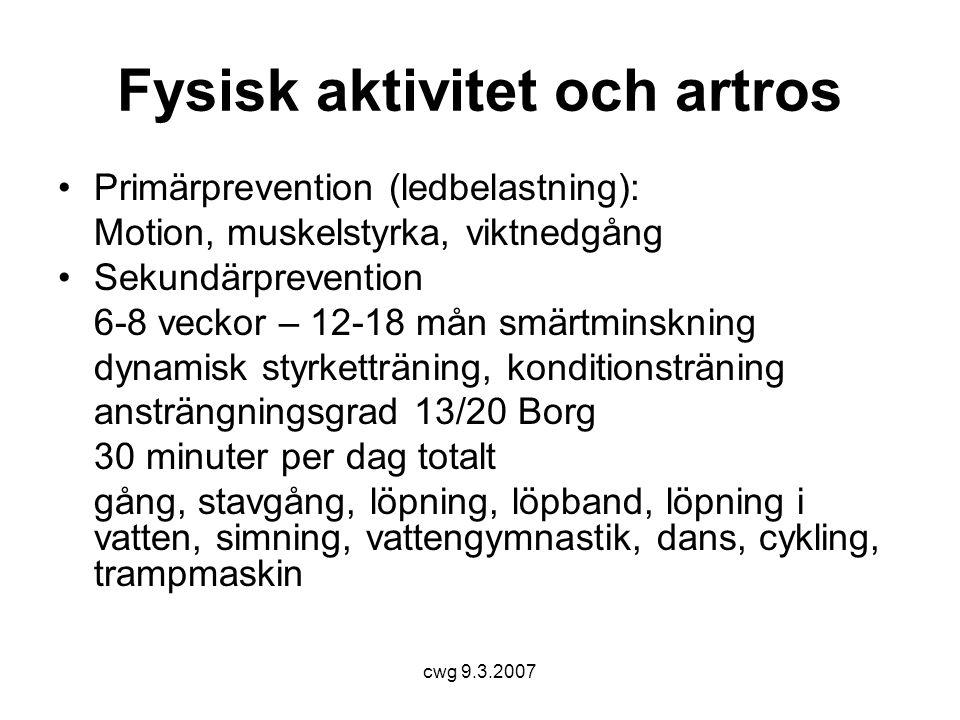 cwg 9.3.2007 Hälsomotion rekommendationer Aktivitetspyramiden Figur 1.