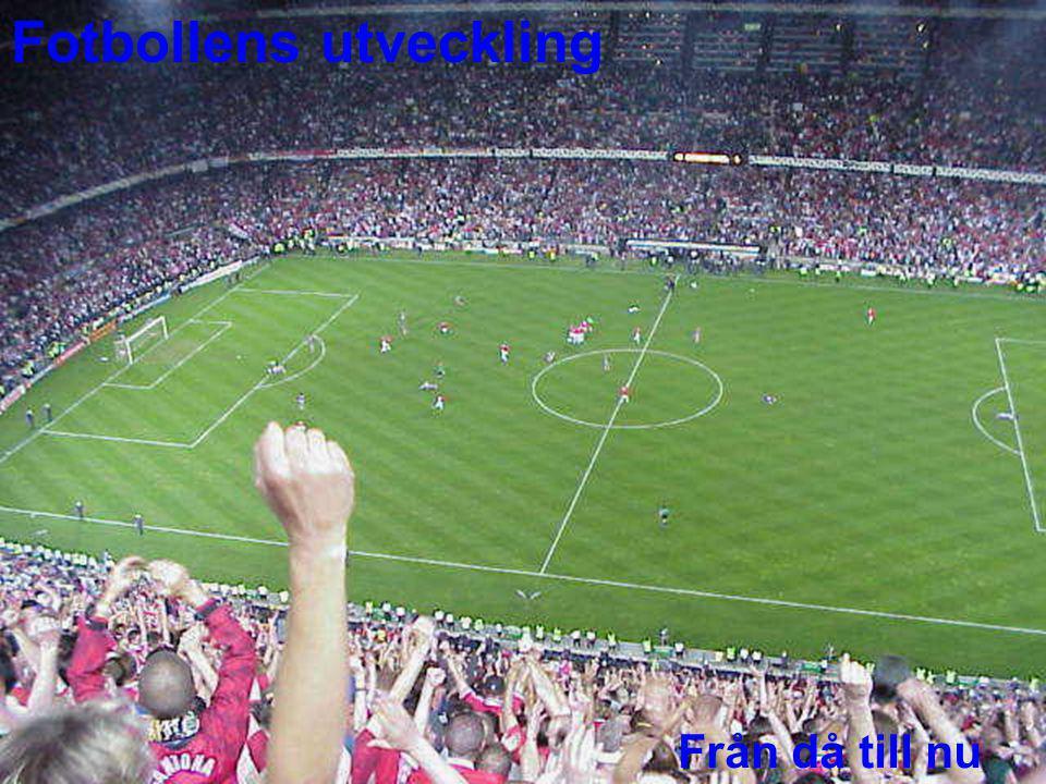 Fotbollsskons utveckling Fotbollssko från ca 1900 I början av seklet använde man sig av tåfjuttar när man sköt och passade bollen.