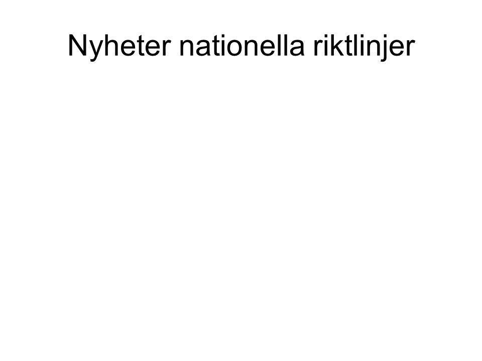 Frakturprevention Kronoberg Vårdprogram 2012 PREVENTION I: Levnadsvanor - behandla för alla (åldrar) 1.
