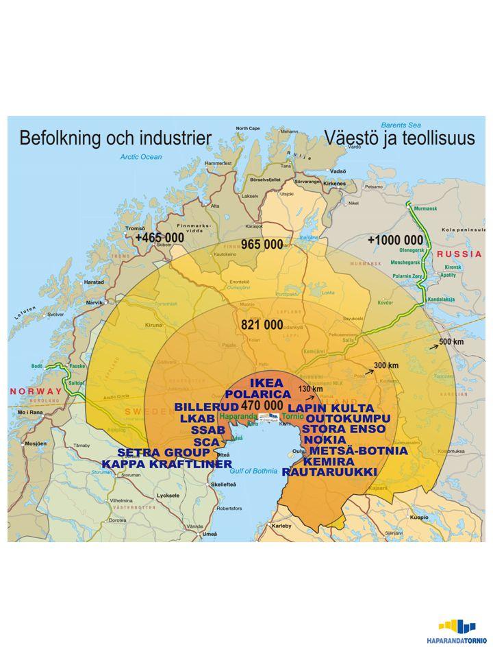 x x 2002 2003 2004 2005 2006 2007 1 50 100 150 200 250 300 86 185 209 284 268 Företagsklimatet i Haparanda Källa: Svenskt Näringsliv 85