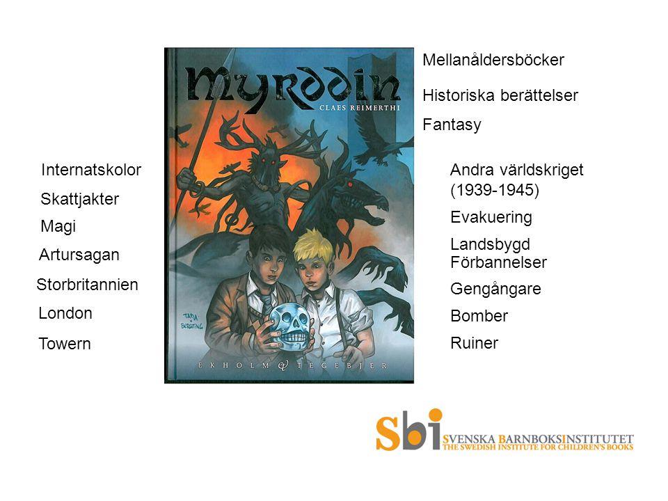 Mellanåldersböcker Historiska berättelser Fantasy Andra världskriget (1939-1945) Evakuering Landsbygd Förbannelser Gengångare Bomber Ruiner Internatsk
