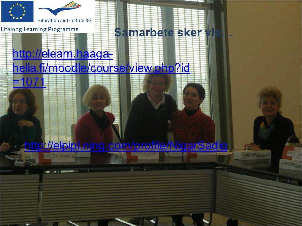 http://elpipl.ning.com/profile/NigarSadig http://elearn.haaga- helia.fi/moodle/course/view.php?id =1071 Samarbete sker via…