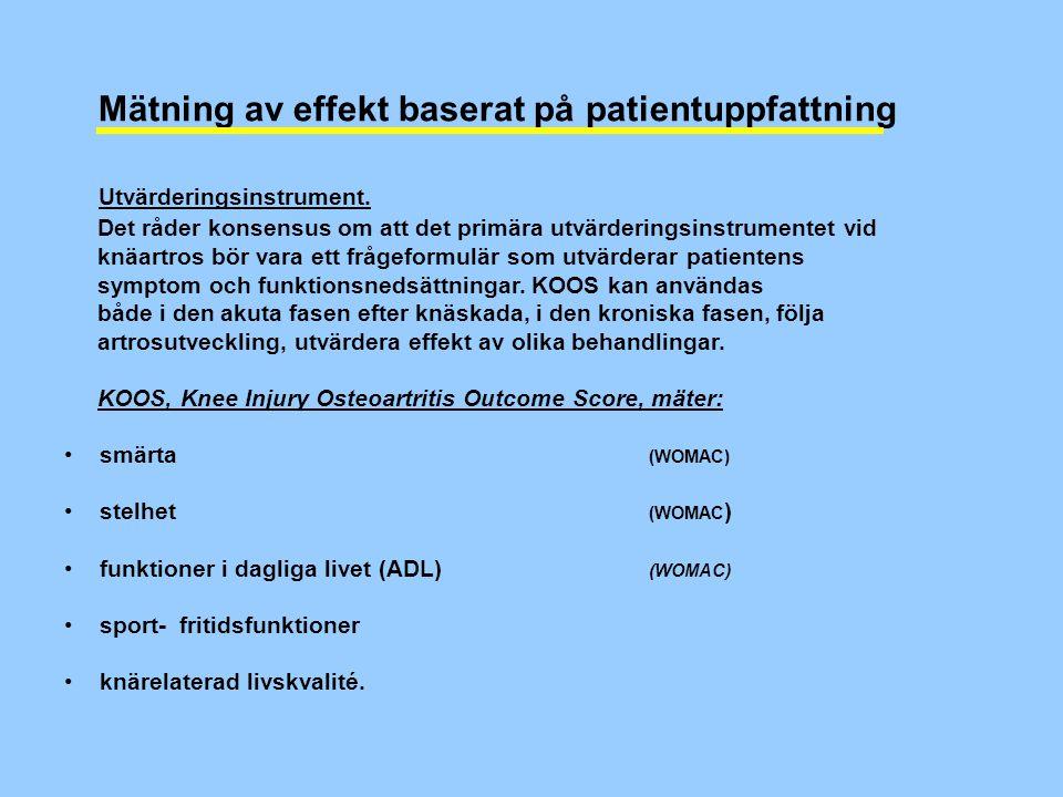 Mätning av effekt baserat på patientuppfattning Utvärderingsinstrument.