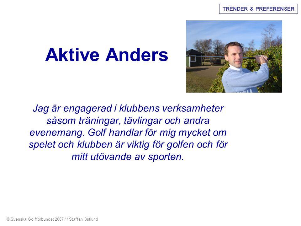 Aktive Anders Jag är engagerad i klubbens verksamheter såsom träningar, tävlingar och andra evenemang. Golf handlar för mig mycket om spelet och klubb