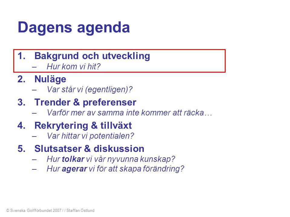 Dagens agenda 1.Bakgrund och utveckling –Hur kom vi hit? 2.Nuläge –Var står vi (egentligen)? 3.Trender & preferenser –Varför mer av samma inte kommer