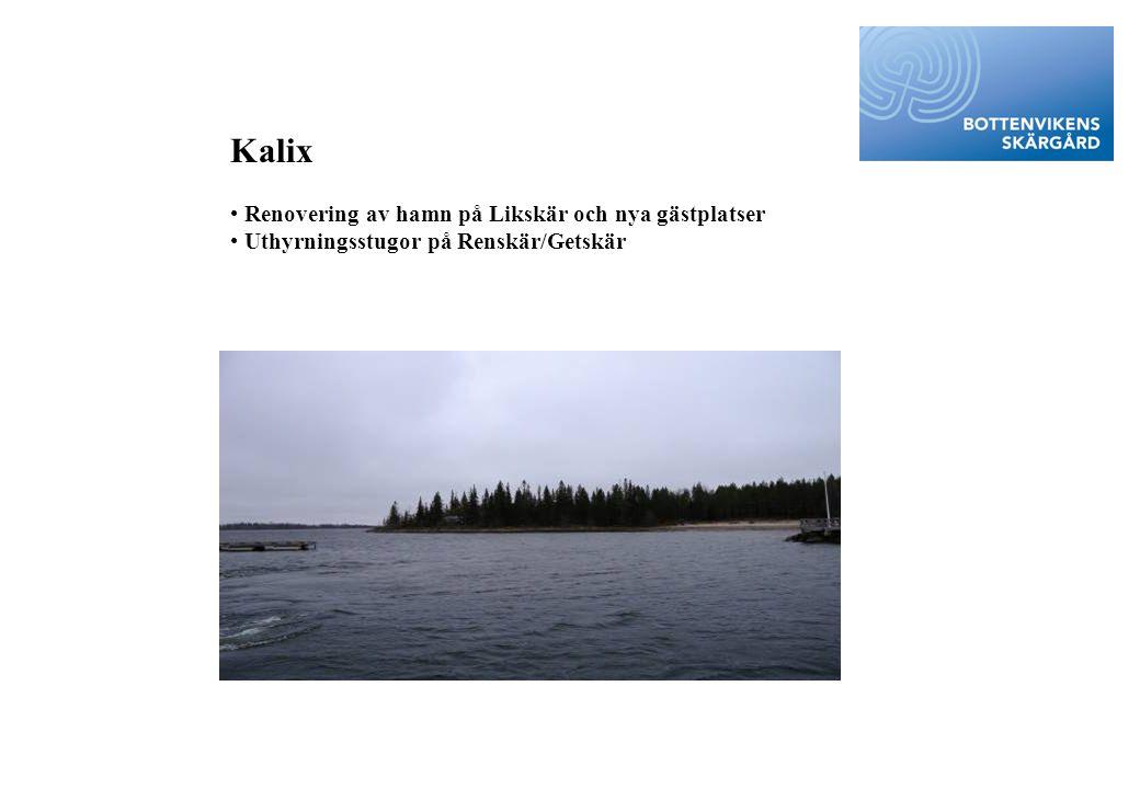 Kalix • Renovering av hamn på Likskär och nya gästplatser • Uthyrningsstugor på Renskär/Getskär