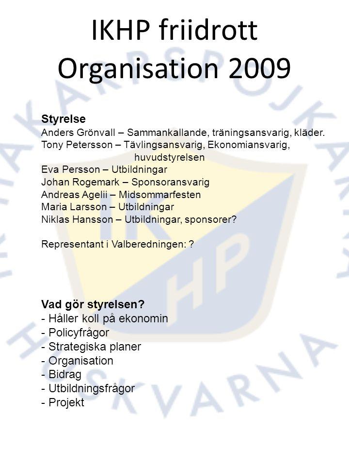 IKHP-Friidrott inför 2010: Arrangemang För den som känner sig osäker i funktionärsrollen eller för den som vill lära sig mer kommer vi under ett antal lördagar, med början i Januari, ha kortare funktionärsgenomgångar för olika grenar.