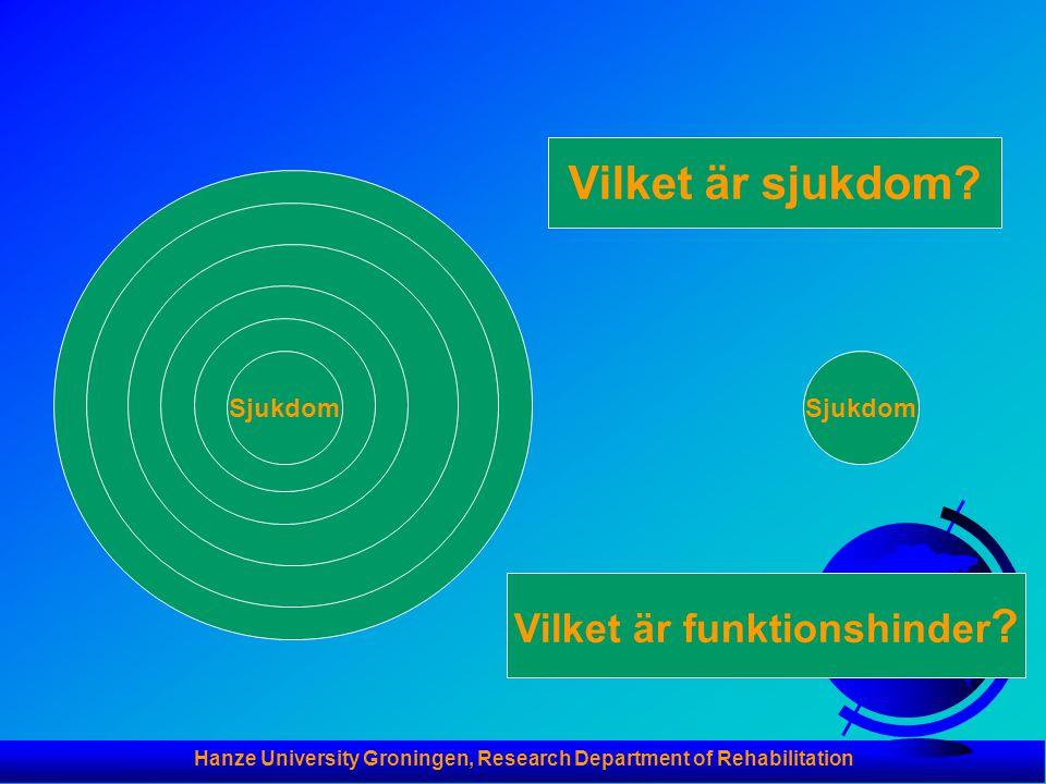 Hanze University Groningen, Research Department of Rehabilitation Sjukdom Vilket är sjukdom.