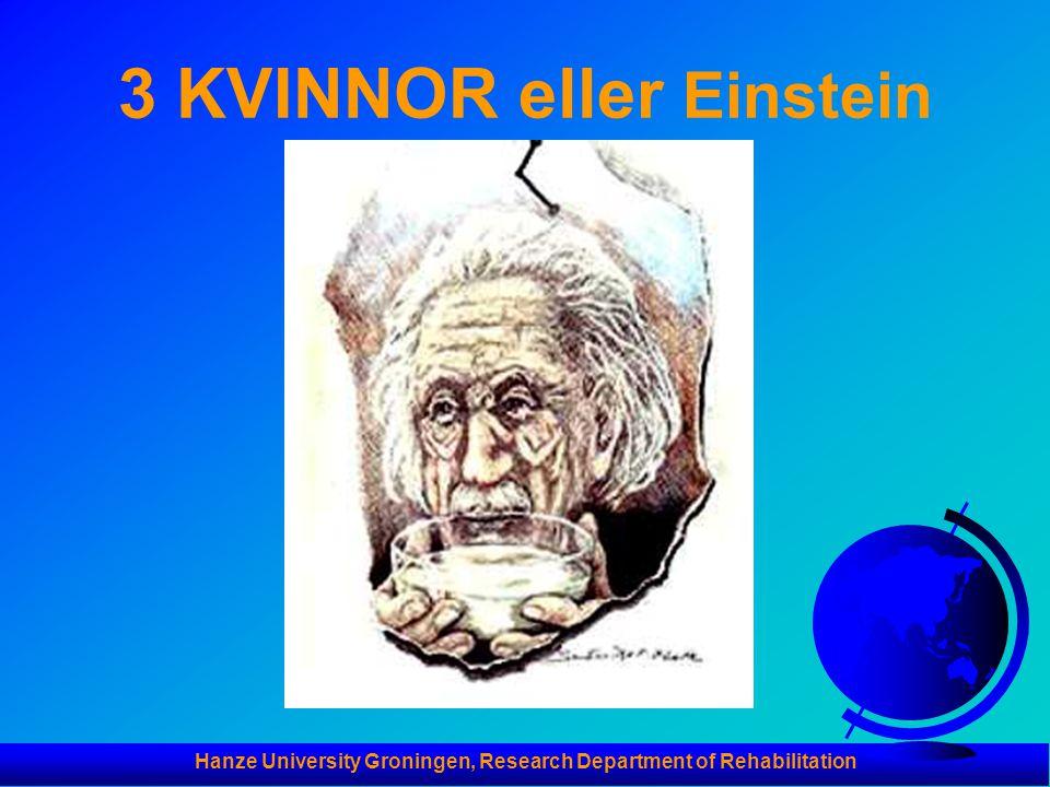 Hanze University Groningen, Research Department of Rehabilitation 3 KVINNOR eller Einstein