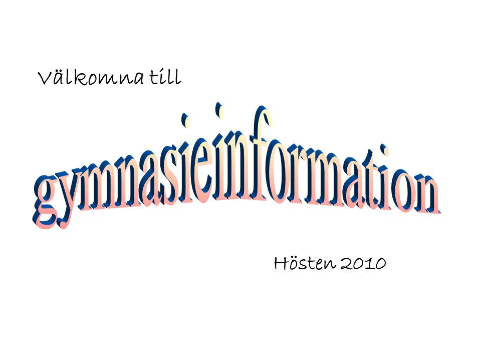 Välkomna till Hösten 2010