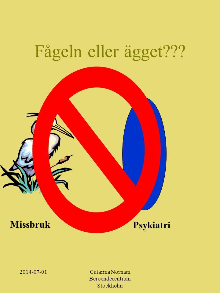 2014-07-01Catarina Norman Beroendecentrum Stockholm Fågeln eller ägget??? Missbruk Psykiatri