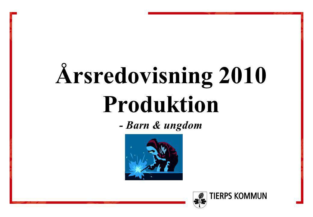 Årsredovisning 2010 Produktion - Barn & ungdom