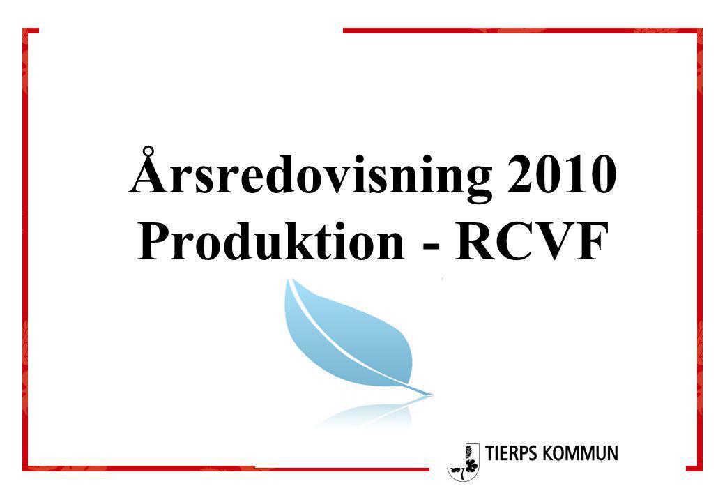 Årsredovisning 2010 Produktion - RCVF