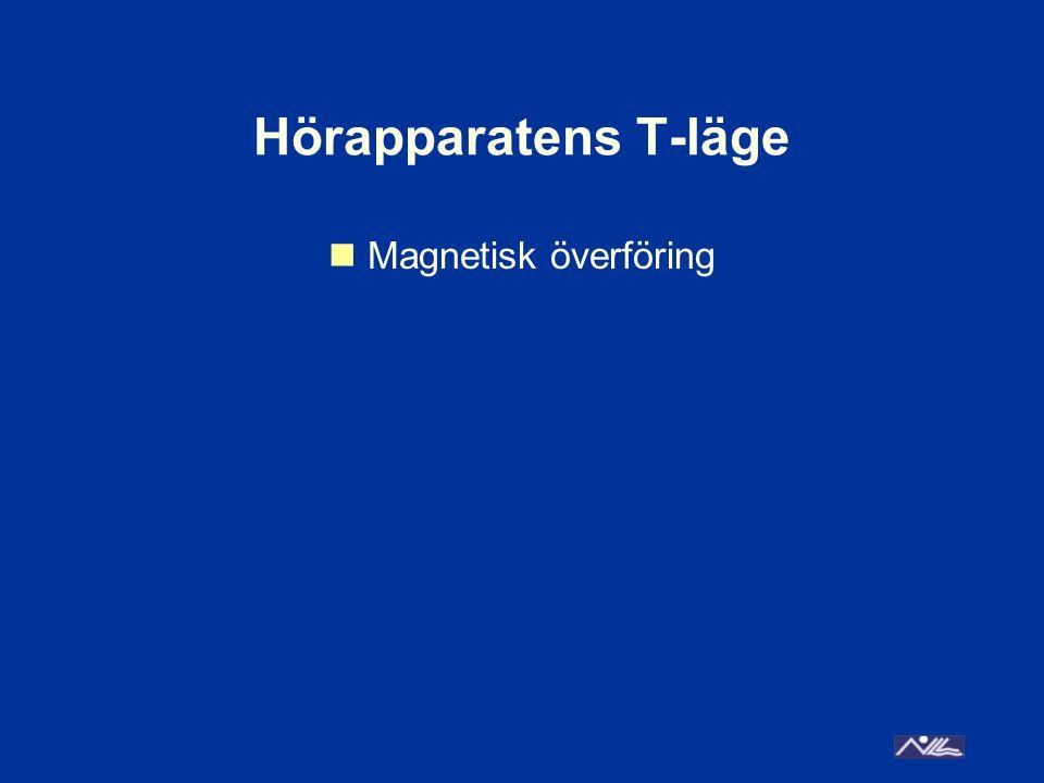 Hörapparatens T-läge  Magnetisk överföring
