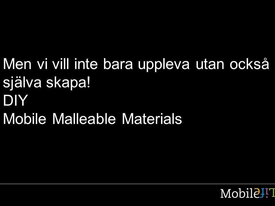 Men vi vill inte bara uppleva utan också själva skapa! DIY Mobile Malleable Materials