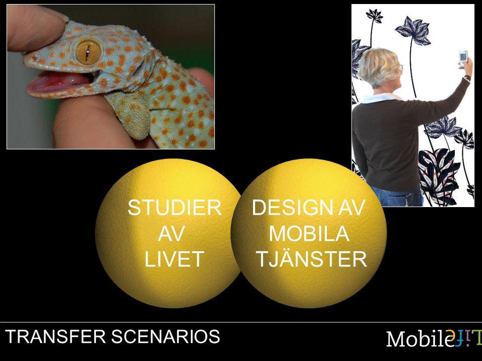 TRANSFER SCENARIOS STUDIER AV LIVET DESIGN AV MOBILA TJÄNSTER