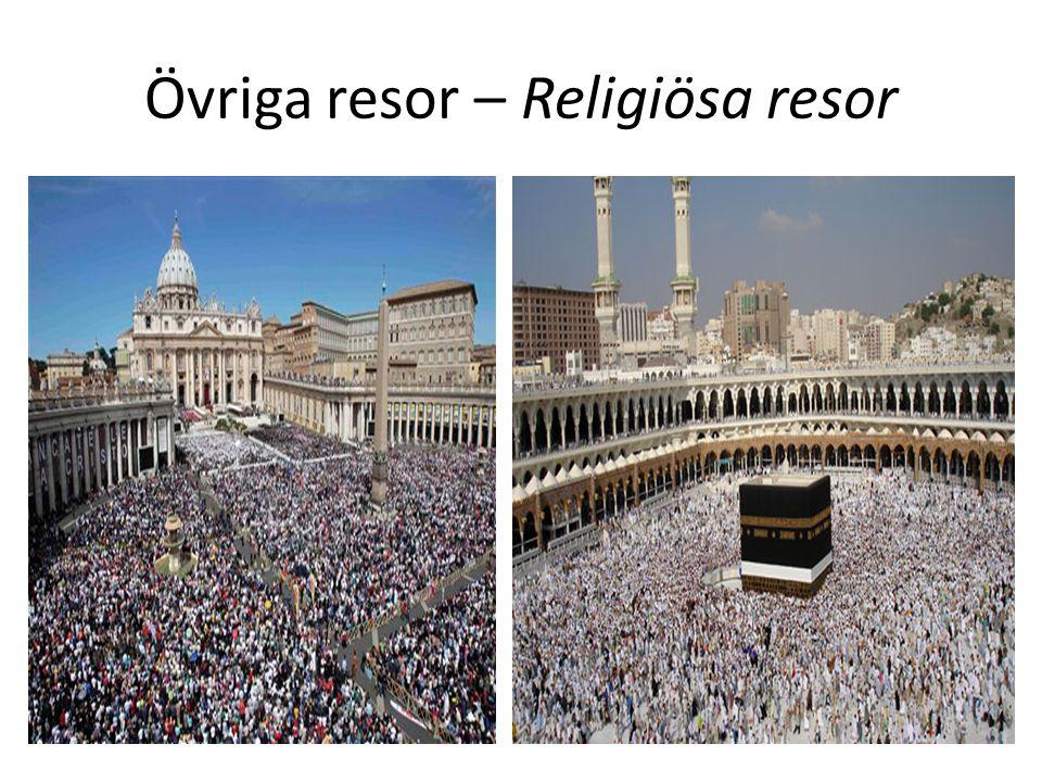 Övriga resor – Religiösa resor