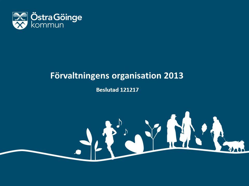Mail: kommun@ostragoinge.se | Webb: www.ostragoinge.se Förvaltningens organisation 2013 Beslutad 121217