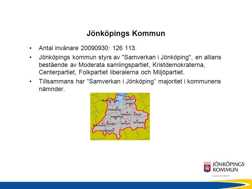 Jönköpings Kommun •Antal invånare 20090930: 126 113.