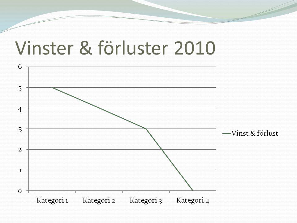 Vinster & förluster 2010